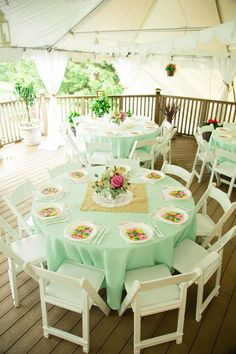 @C L if its nice out we can rent tables and table cloths from a place in town and have it in the backyard.