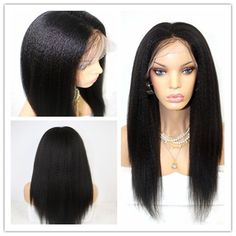7A Full Lace Human Hair Wigs Virgin Peruvian Hair Kinky Straight Lace Wig Goddess Hairstyles, Wig Hairstyles, Straight Hairstyles, Black Hairstyles, Human Hair Lace Wigs, Human Hair Wigs, Kinky Straight Wig, Cheap Human Hair, Synthetic Lace Front Wigs