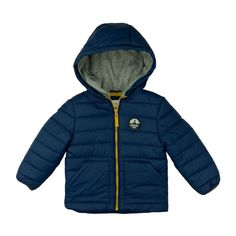 Carter's Baby Boys' Infant Classic Heavyweight Bubble Jacket: Fleece lined classic heavyweight bubble jacket with luggage trim Carters Baby Boys, Toddler Boys, Infant Toddler, Little Boy Outfits, Baby Boy Outfits, Boys Winter Coats, Winter Jackets, Baby Boy Quilts, Zip Ups