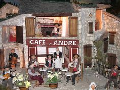 Santons of Provence, Museum of Automated Santons, Cafe Andre, village life