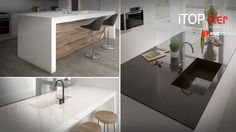 Inalco extends the Ice iTOPker and Touché iTOPKer Collections for countertops with a new high-gloss polished finishing.