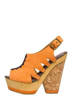 Blonde Ambition Nafita Wedge Sandal -- want to find these in dark blue or teal