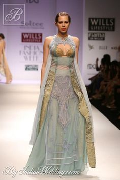 Soltee by Sulakshana Monga gown in pastel shades