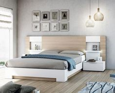 Modern Garcia Sabate Altea Bed In Matt White U0026 Matt Cappuccino Opt Bedside  Cabinets   See