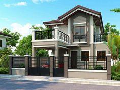 2 storey house design, bungalow house design, house front design, two House Balcony Design, House Fence Design, 2 Storey House Design, Modern Small House Design, Simple House Design, Modern House Plans, House Paint Exterior, Dream House Exterior, Exterior Design