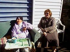Sis Valerie on right lunch at the Rawiris