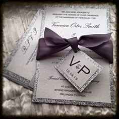 awesome 7 purple sparkle wedding invitations Check more at http://jharlowweddingplanning.com/7-purple-sparkle-wedding-invitations