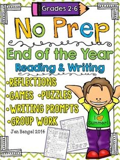 This is a NO PREP packet of printables that support the reading and writing work you have done in your classroom all year. Your students will LOVE the games, group work, puzzles and more! Classroom Fun, Classroom Activities, Book Activities, End Of School Year, School Fun, School Stuff, School Ideas, Teaching Tips, Teaching Reading