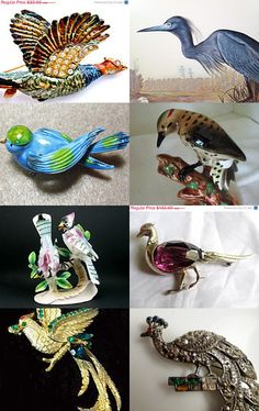 Birds Of A Feather...GVS Team by Ruth's Bargains on Etsy--Pinned with TreasuryPin.com