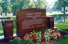 Jesse JC Owens.    Olympic Games Gold Medalist Athlete, Civil Rights Reformer.  Oak Woods Cemetery, Chicago, Illinois.  Read more......