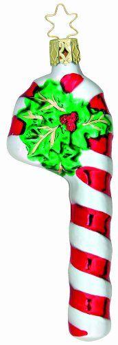 Inge-Glas Sugar And Stripes Christmas Ornament