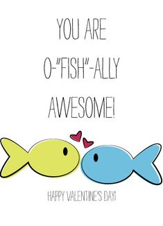 O-fish-ally Awesome Valentine's Day Card by Artsy Canvas Girl Designs
