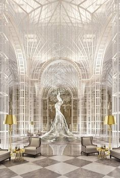 Stunning luxury interior design ideas from modern boutique hotels. Lobby, bedroom, stairways and entryways, a room by room guide to finding inspiration with the best interior architecture from world renowned hotels. Model Architecture, Architecture Design Concept, Futuristic Architecture, Amazing Architecture, Interior Architecture, Commercial Design, Commercial Interiors, Interior Modern, Interior And Exterior