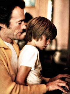 Clint Eastwood with his son Kyle, 1970s