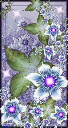 by Iwuchska on DeviantArt Flowery Wallpaper, Flower Background Wallpaper, Graphic Wallpaper, Butterfly Wallpaper, Pretty Backgrounds, Pretty Wallpapers, Flower Backgrounds, Wallpaper Backgrounds, Fractal Design