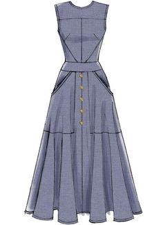 Vogue Dress Patterns, Vintage Vogue Patterns, Vogue Sewing Patterns, Clothing Patterns, Patterns For Dresses, Mccalls Dress Patterns, Dress Paterns, Skirt Patterns, Coat Patterns