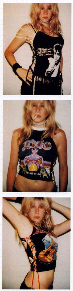 Terry Richardson for Nylon magazine, September/October 1999. Altered vintage shirts by Heidi Sjursen.