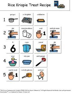 Yum! Visual recipe for Rice Kripsie Treats!