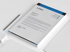 Letterhead by Designs Bird on Business Cards Layout, Minimal Business Card, Business Brochure, Business Card Logo, Letterhead Template, Stationery Templates, Design Templates, Letterhead Design Inspiration, Company Presentation