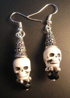 Cute Skull Bead Earrings