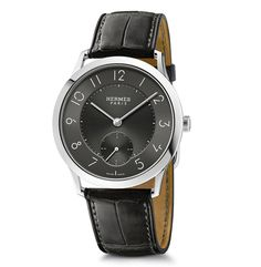 Slim d'Hermès Ardoise Dial Latest Watches, Cool Watches, Watches For Men, Gq, Bling Bling, Hermes Watch, Monochrome Watches, Hermes Online, Luxury Watch Brands
