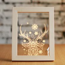 Catch a snowflake with this elegantly framed lamp! Featuring a beautiful geometric deer, this lamp glows with the spirit of the season. Led Night Light, Light Up, Night Lights, Laser Cut Plywood, Laser Cutting, Handmade Crafts, Diy And Crafts, Gravure Laser, Laser Cutter Ideas