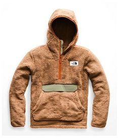 The North Face - Campshire Hooded Pullover Hoodie - Men's - Cargo Khaki/Four Leaf Clover Mens Outdoor Clothing, Outdoor Apparel, Fleece Hoodie, Pullover, Hoodies For Sale, Outdoor Outfit, The North Face, Winter Jackets, Winter Hats