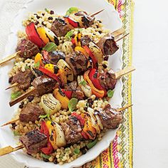 Seasoned Lamb Kebabs | Coastalliving.com