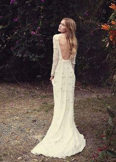 Alternative boho wedding dress   www.onefabday.com   #boho #weddingdress