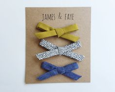 Dainty Bow Combo by jamesandfaye on Etsy