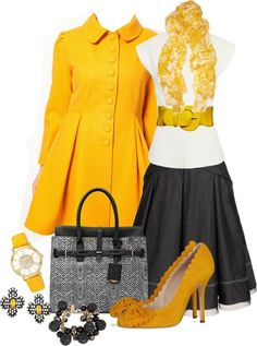 Make You Classy and Stylish with this Yellow Mustard Outfits .. -- Love lov LUV this! ♥