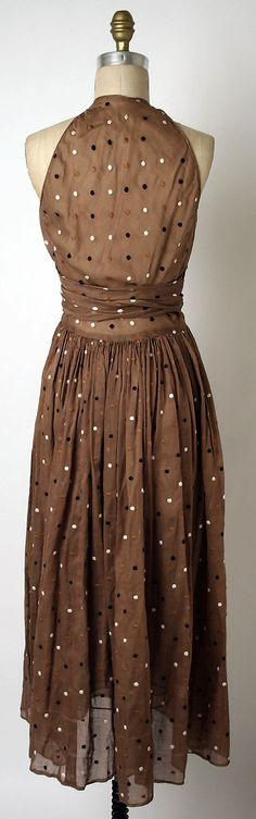 Claire McCardell Dress c.1948.  this one has a back!