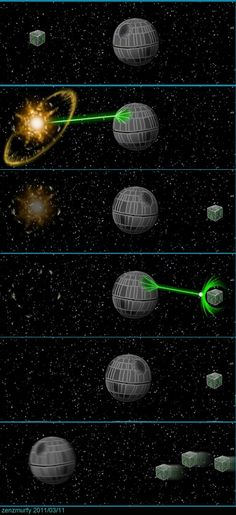 """A sequel to the """"Doomsday vs Deathstar"""" picture. Another TrekWARS crossover with """"Borg vs Deathstar""""."""