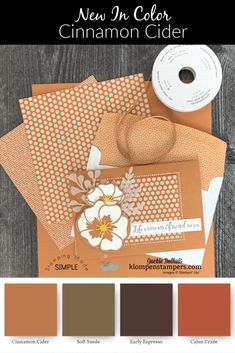 Fall Paper Crafts, Paper Crafting, Poppy Cards, Card Making Supplies, Coordinating Colors, Catalogue, Card Sketches, Color Card, Homemade Cards
