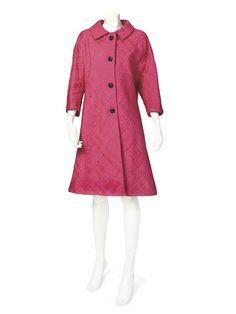 SCHIAPARELLI, A SHOCKING PINK SWING COAT, C1960