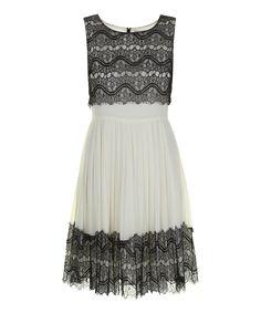 Cream Reese Sleeveless Dress | Darling