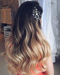Wedding Hairstyles: Ulyana Aster Romantic Long Bridal Wedding Hairstyles_13 See more: www.deerpe #weddinghairstyles