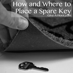 How and Where to Place a Spare Key