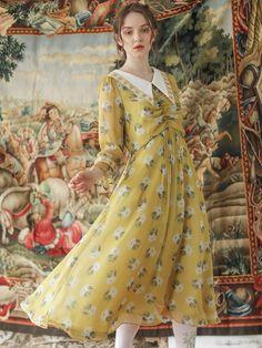 s/m/l length bust waist shoulder sleeve Maternity Fashion Dresses, Dress Outfits, Vintage Dresses, Vintage Outfits, Princess Costumes, Story Inspiration, Fashion Illustrations, Modest Dresses, Aesthetic Clothes