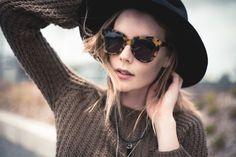 hat & sunglasses = cool & comfy