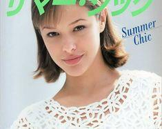 Crochet book Crochet lace pattern Summer chic Crochet for summer Japan for women Crochet summer tunic