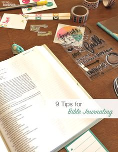 Check out these nine tips for Bible journaling and see the Illustrated Faith's devotional kit put to use!