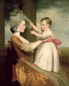 John Downman, A Portrait of Elizabeth Mortlock (b.1756) and her son John Mortlock the Younger, 1779