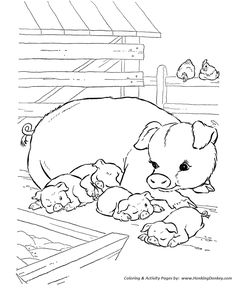 Farm animal coloring pages these free printable farm animal Cute Donkey Coloring Pages Stable Coloring Page Donkey Drawing