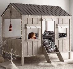 "Any Little Boy Or Girl Would Be So Lucky To Have This Adorable ""Cabin Bed""...Click On Picture For Purchase Info..."