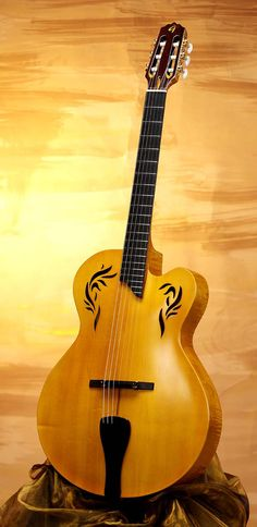 Gallinaro Classical Archtop AP (Italy) This is the most beautiful nylon guitar I have ever seen ... wow!!!