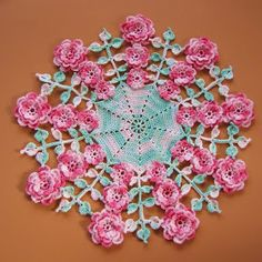 BellaCrochet: A Doily of a Different Color: Marie's Cherokee Roses