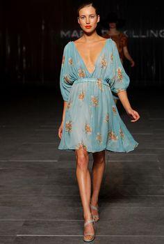 Pretty Blue floral dress. Marnie Skilling