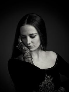 Eva Green as Morgan, portrait by Michael Muller for Camelot. ~ She is beautiful.
