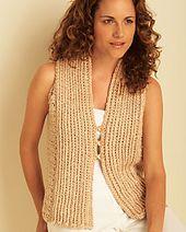 Ravelry: Vest pattern by Bernat Design Studio
